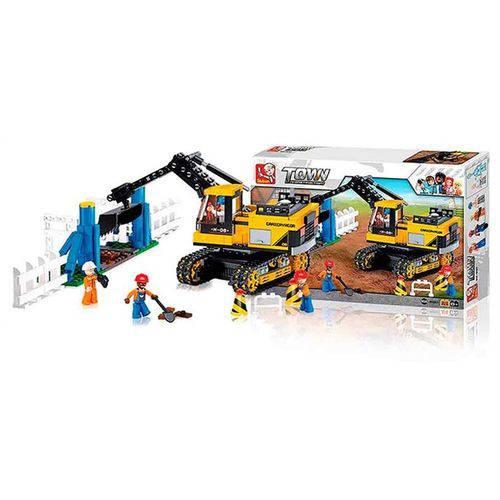 Blocos Construção Escavadeira 614 Peças - BR830