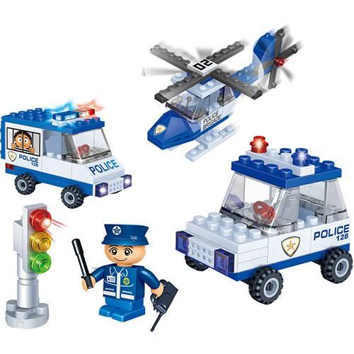 Blocos de Montar Banbao Kit Veículos de Polícia - 113 Peças