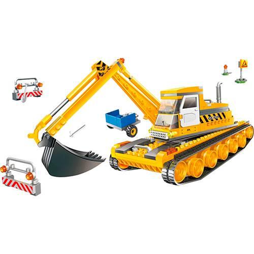 Blocos de Montar Banbao Obras Escavadeira