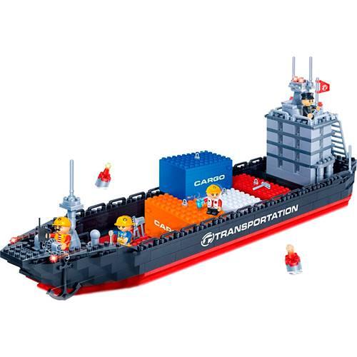 Blocos de Montar Banbao Transporte Navio Container - 716 Peças