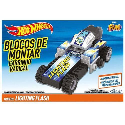 Blocos de Montar Carrinho Hot Wheels Fun 81111