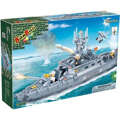 Blocos de Montar Forca Tatica Navio de Guerra 8415 Banbao