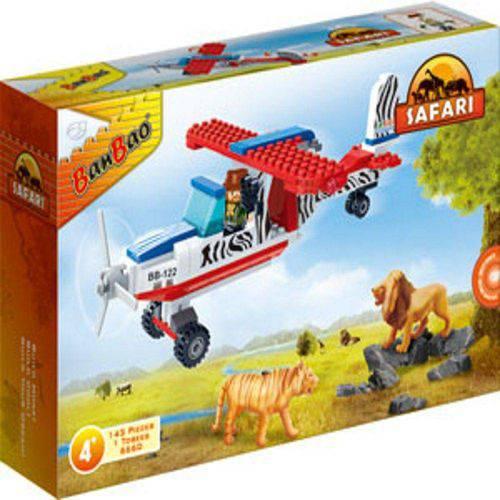 Blocos de Montar Safari Avião 143 Peças - Banbao