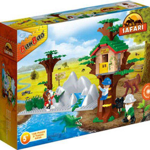 Blocos de Montar Safari Casa da Árvore 168 Peças - Banbao
