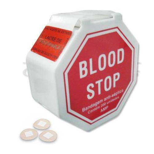 Blood Stop Mini Curativos Redondinhos Antisséptico C/ 200 Unidades