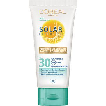Bloqueador Solar Loreal FPS-30 Facial Toque Seco 50g