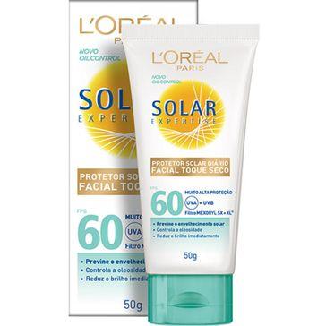 Bloqueador Solar Loreal FPS-60 Facial Toque Seco 50g