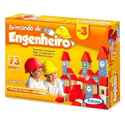 Bloquinhos de Madeira Brincando de Engenheiro Nº3 - Xalingo