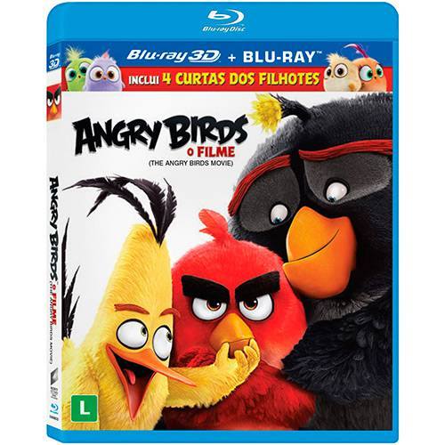 Blu-Ray 3D Angry Birds: o Filme