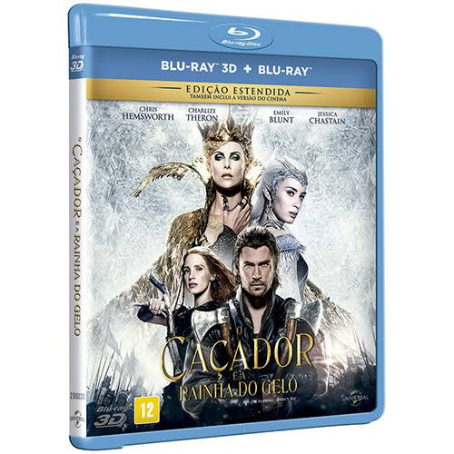 Blu-ray 3D + Blu-ray: o Caçador e a Rainha do Gelo