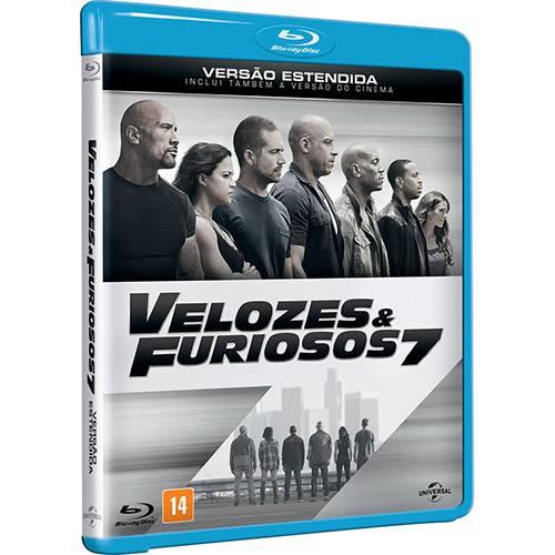 Blu-ray - Velozes e Furiosos 7 - Versão Estendida