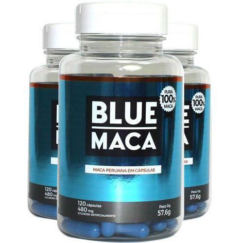 Blue Maca - Maca Peruana - 3 Potes com 120 Cápsulas em Cada Pote. - Pura Premium e Sem Misturas