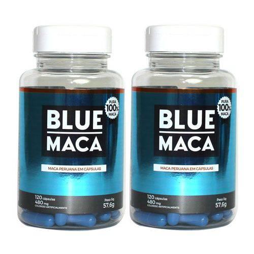 Blue Maca - Maca Peruana - 2 Potes com 120 Cápsulas em Cada Pote. - Pura Premium e Sem Misturas