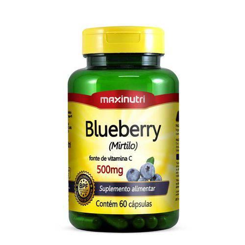 Blueberry (Mirtilo) 500mg 60 Cápsulas Maxinutri