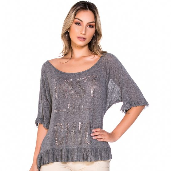 Blusa Ampla Fast And Chic M
