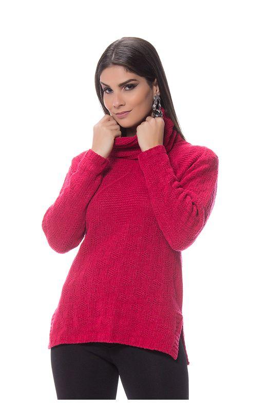 Blusa Aran Mousse Tricot Pink Pink