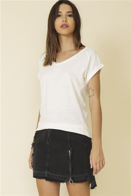 Blusa Basic - Off White Tamanho: G
