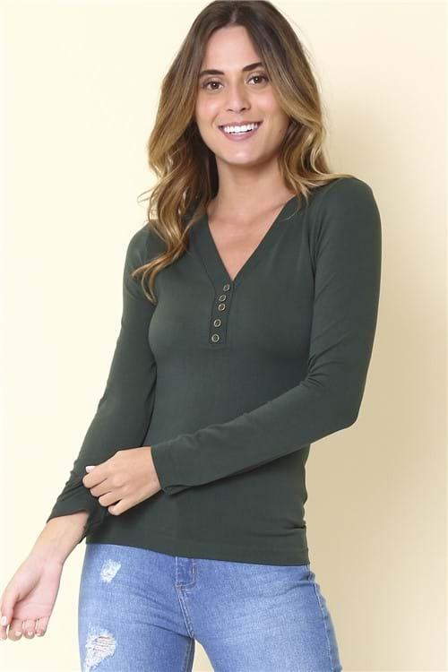 Blusa Basic - Verde Tamanho: G