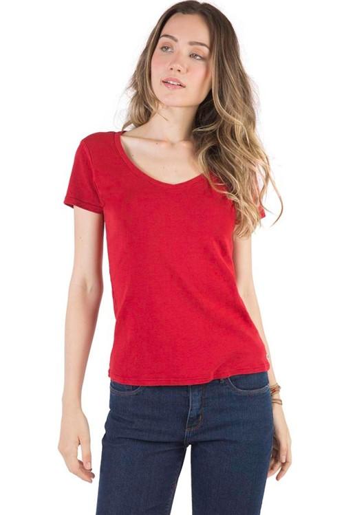 Blusa Básica Premium Vermelho Vermelho/P