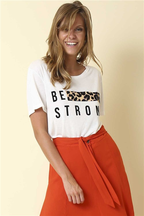 Blusa Be Strong - Off White Tamanho: G
