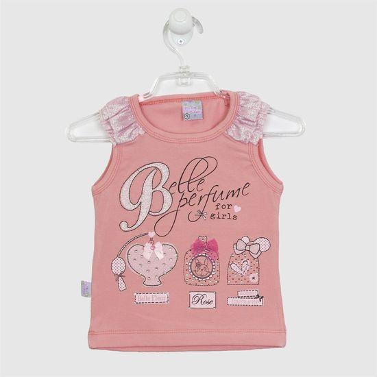 Blusa Bebê Feminina Manga Curta Perfumes Salmão -1