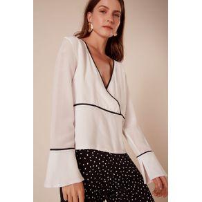 Blusa Bicolor Preto/Branco - 34