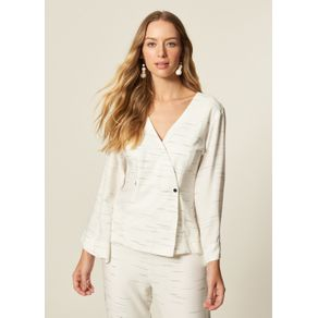 Blusa Blazer Transpasse Off White - G