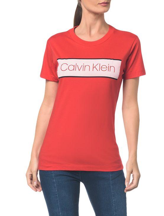 Blusa C Logo Tarja Clavin Klein - Vermelho - P