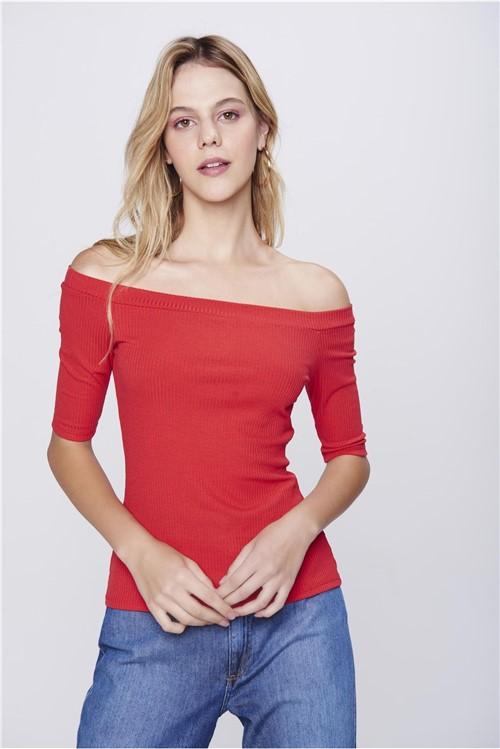 Blusa Canelada Ombro a Ombro Feminina