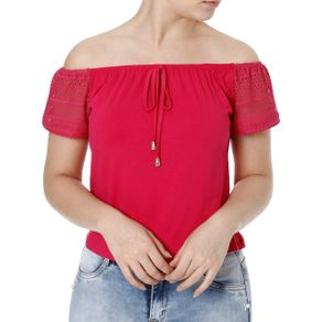 Blusa Ciganinha Feminina Rosa M