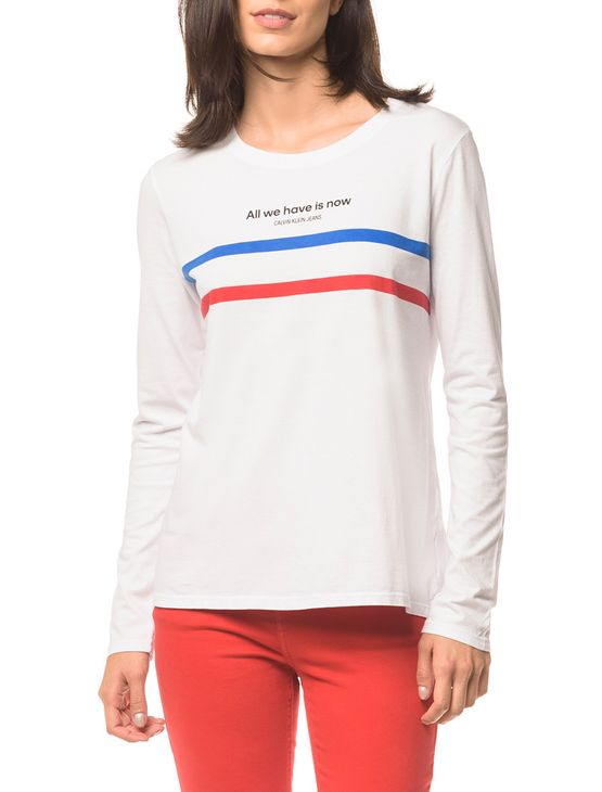 Blusa Ckj Fem Ml All We Have - Branco 2 - P