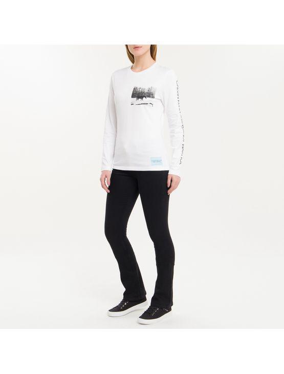 Blusa Ckj Fem Ml Andy Warhol Landscape - Branco 2 - Pp