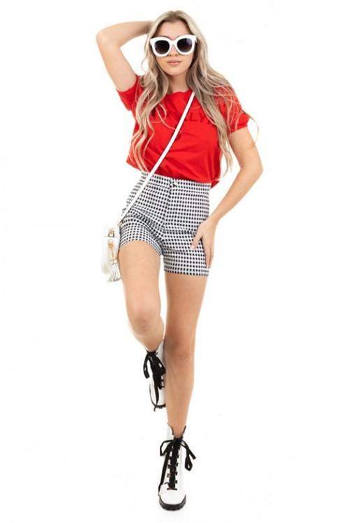 Blusa Cropped com Ombreira BL3818 - Kam Bess