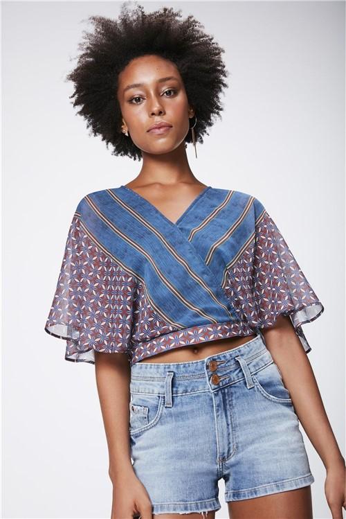 Blusa Cropped Feminina com Amarração