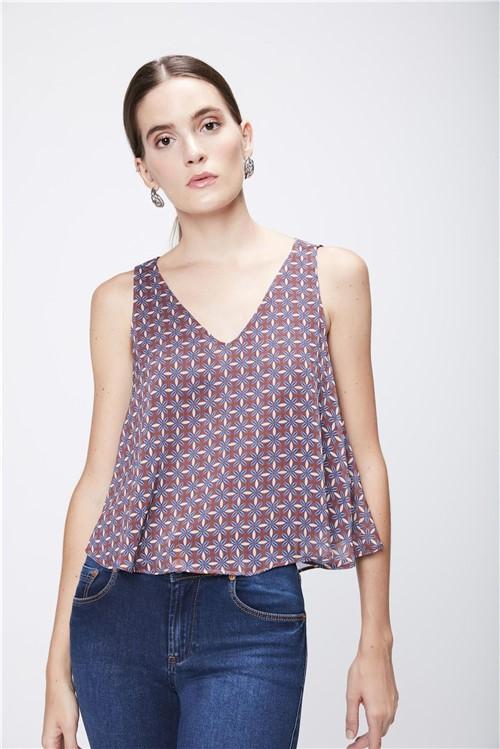 Blusa Cropped Feminina Estampada