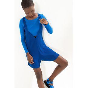 Blusa Cropped Fit Ml Azul Carmela - M