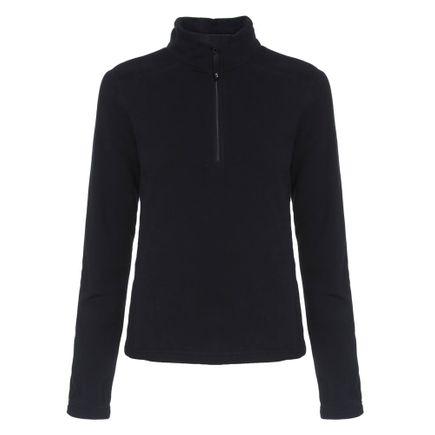 Blusa de Fleece para Frio Solo Feminina Preta Tam. P