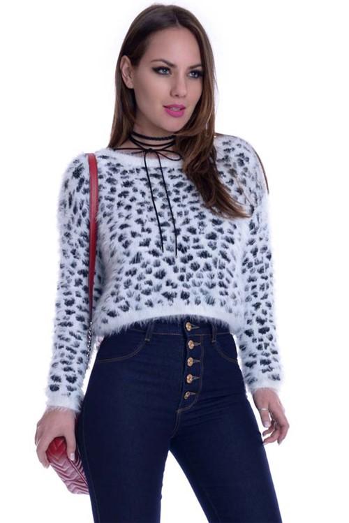 Blusa de Lã Feminina Grossa com Toque Peluciado BL2788 - Kam Bess