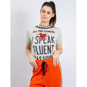 Blusa de Malha Silk All The Lovers e Bordado - G