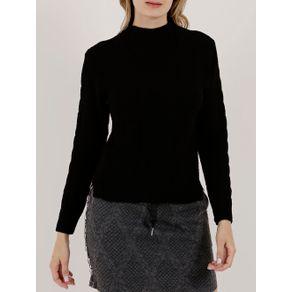 Blusa de Tricot Feminina Autentique Preto GG