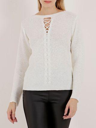 Blusa de Tricot Feminina Branco