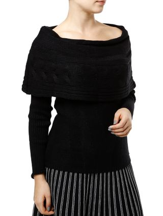 Blusa de Tricot Feminina Preto