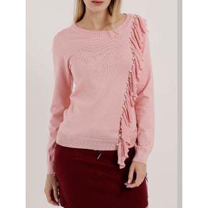 Blusa de Tricot Feminina Rosa G