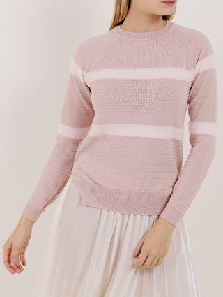 Blusa de Tricot Feminina Rosa