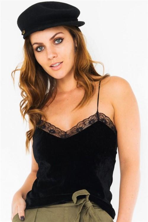 Blusa de Veludo Alças Finas VE1804 - Kam Bess