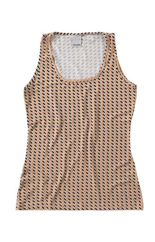Blusa Decote Quadrado Malwee Bege - G