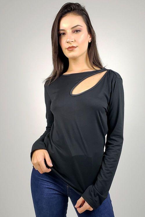Blusa Decote Redondo Morena Rosa - M