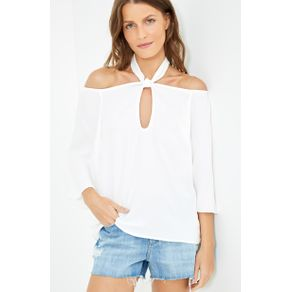Blusa Decote Torcido - Off White - 42