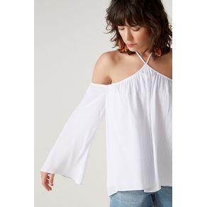 Blusa Decote V Amarração Branco - 34