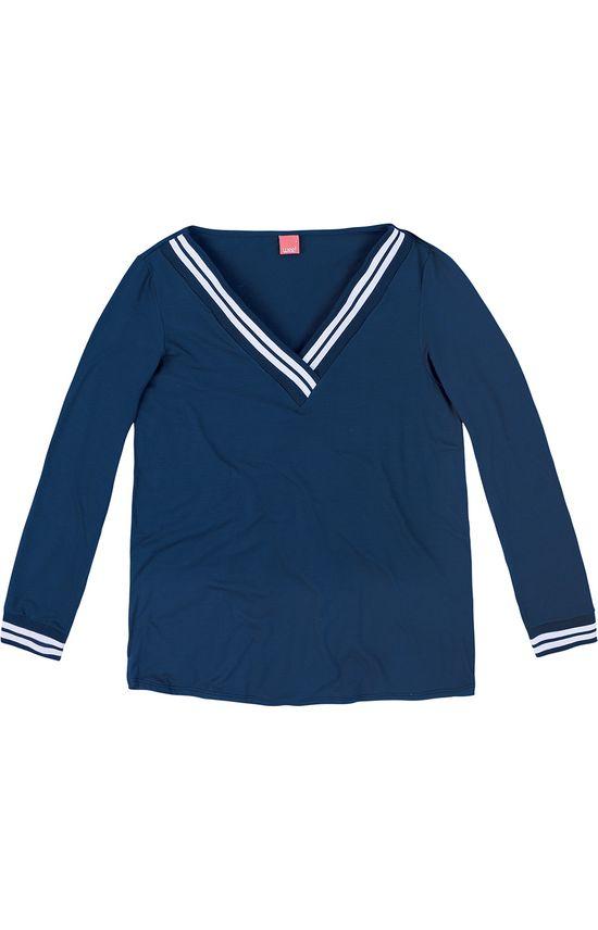 Blusa Decote V Wee! Azul Escuro - G